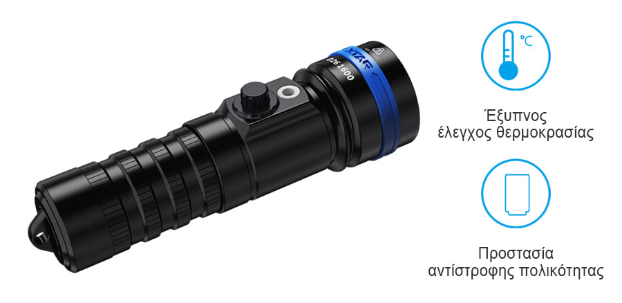 XTAR D26 1600 Diving Flashlight slider12