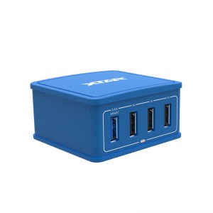 Φορτιστής XTAR 27W 4-Port USB Blue
